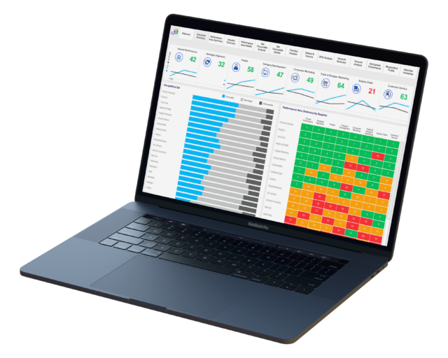 Laptop Showcasing Advantage Analytics Local
